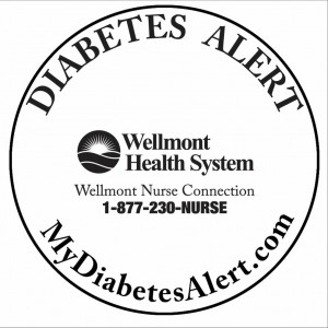 Diabetes Alert Sticker